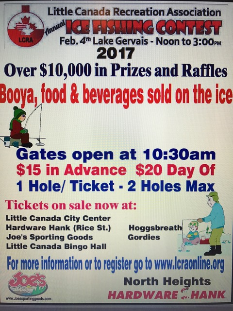Lcra Ice Fishing Contest 2017 Mn Twin Cities Metro Area