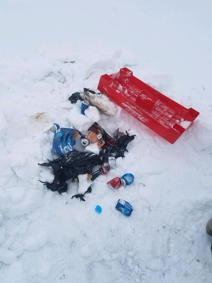 Please don 39 t leave trash on upper red lake upper red for Jrs upper red lake fishing report