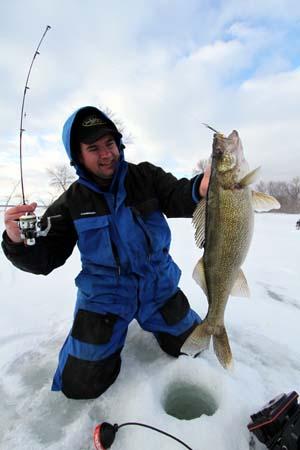 Ice Fishing Walleyes - Minnesota