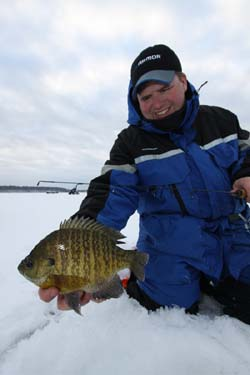 ice fishing technique