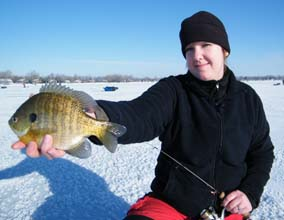 Ice Fishing by Feel or Sight
